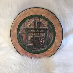Plate Wall Art New Green French Storefront